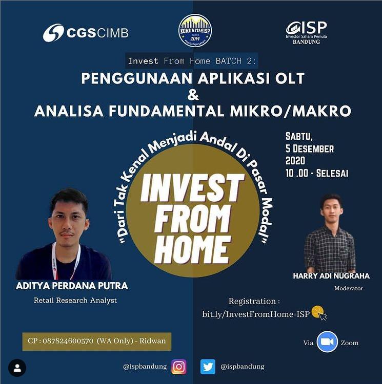 Bingung Mau Investasi Saham? Yuk Belajar Bareng di Webinar Invest From Home!