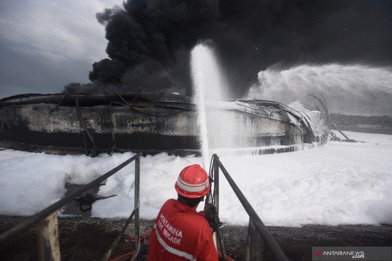 Polisi Belum Olah TKP Kebakaran Kilang Minyak Balongan
