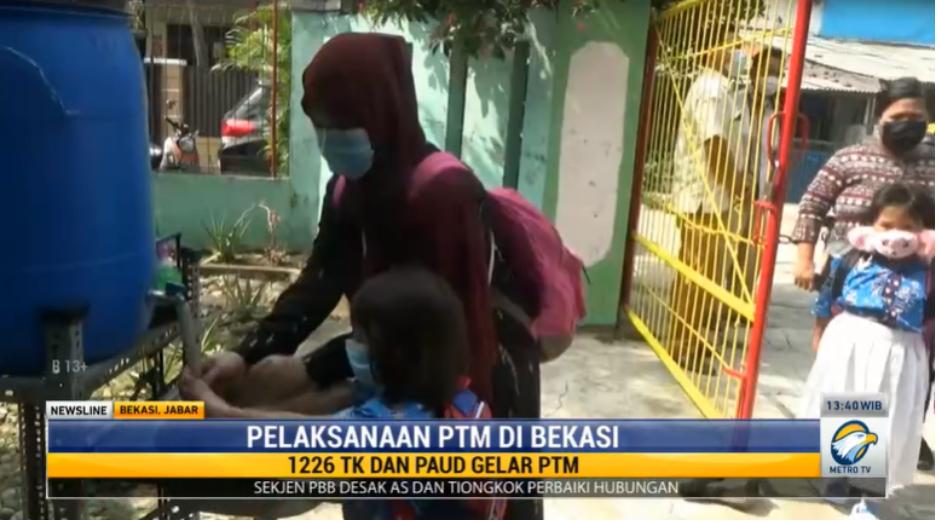 TK dan PAUD di Bekasi Gelar PTM Bertahap